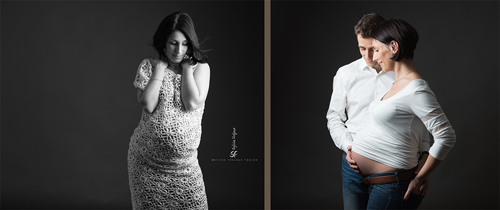 photographe de jolis portrait de femme enceinte à toulon